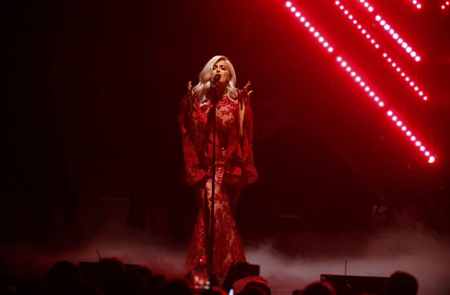 Bebe Rexha performs on stage at the 2016 MTV Europe Music Awards at the Ahoy Arena in Rotterdam, Netherlands, November 6, 2016. (Photo by Yves Herman/Reuters)