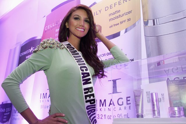 Miss Dominican Republic 2014 Kimberly Castillo poses for the 63rd Annual Miss Universe Pageant in Miami, Florida in this January 17, 2015, handout photo. (Photo by Reuters/Miss Universe Organization)