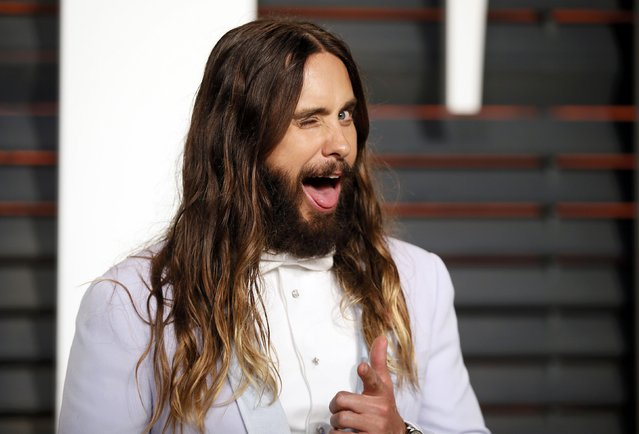 Actor Jared Leto arrives at the 2015 Vanity Fair Oscar Party in Beverly Hills, California February 22, 2015. (Photo by Danny Moloshok/Reuters)
