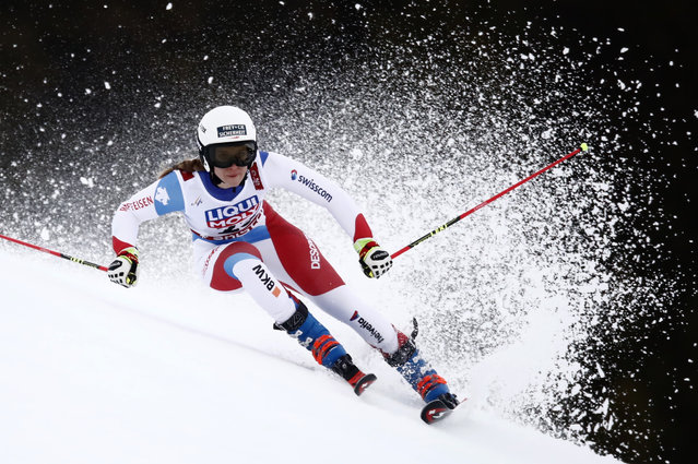 Switzerland's Andrea Ellenberger competes in the first run of the Women's Giant slalom event at the 2019 FIS Alpine Ski World Championships at the National Arena in Are, Sweden on February 14, 2019. (Photo by Christian Hartmann/Reuters)