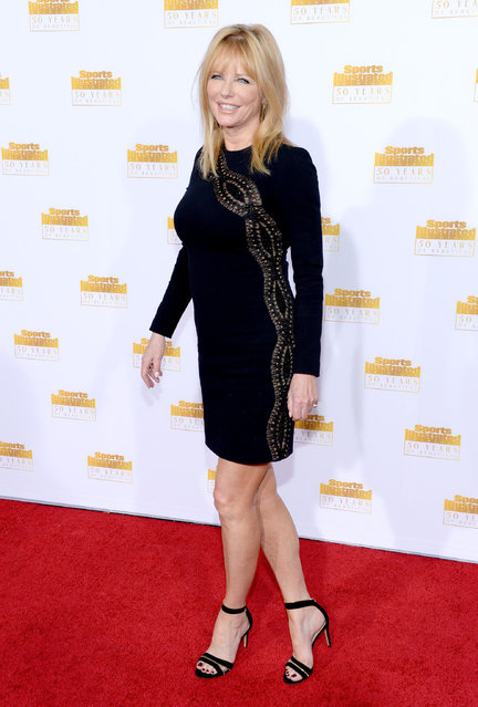 Model Cheryl Tiegs attends NBC and Time Inc. celebrate the 50th anniversary of the Sports Illustrated Swimsuit Issue at Dolby Theatre on January 14, 2014 in Hollywood, California. (Photo by Dimitrios Kambouris/Getty Images)