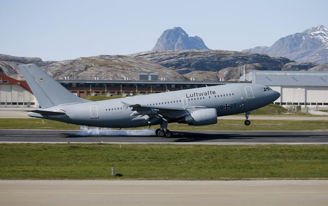 A German Airbus 310 MRTT arrives at Bodoe Main Air Station on the first day of the NATO Arctic Challenge Exercise May 25, 2015. (Photo by Thorbjoern Kjosvold/Reuters/Norwegian Armed Forces)