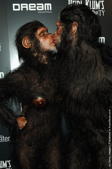 Heidi Klum and Seal attend Heidi Klum's 12th annual Halloween party