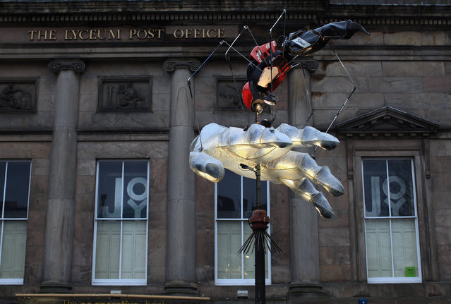 X-Ray Ted Golf Bug, by artist Joe Rush  stands as part of Liverpool Discovers Art Celebration on February 15, 2011 in Liverpool, England. (Photo by Christopher Furlong/Getty Images)