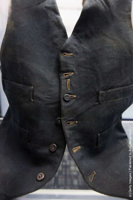 Passenger William Henry Allen's wool black vest is seen among artifacts recovered from the RMS Titanic