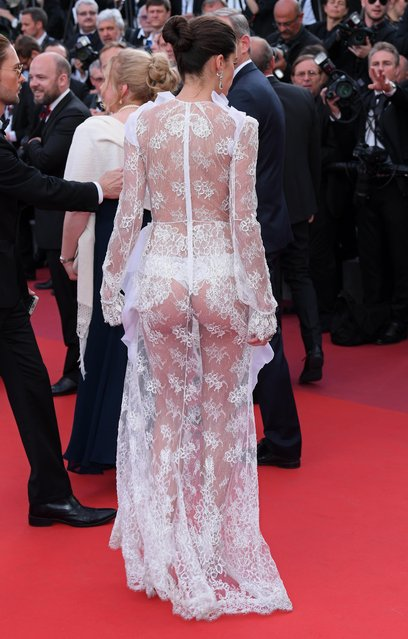 """Sara Sampaio attends """"The Killing Of A Sacred Deer"""" screening during the 70th annual Cannes Film Festival at Palais des Festivals on May 22, 2017 in Cannes, France. (Photo by David Fisher/Rex Features/Shutterstock)"""
