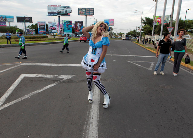 A participant takes part in a gay pride parade in Managua, Nicaragua June 28, 2016. (Photo by Oswaldo Rivas/Reuters)