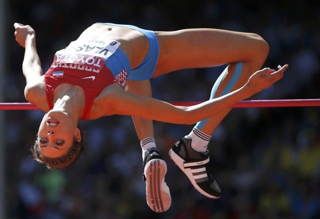 Blanka Vlasic of Croatia competes competes in the women's high jump qualifying round during the 15th IAAF World Championships at the National Stadium in Beijing, China, August 27, 2015. (Photo by Phil Noble/Reuters)