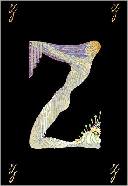 Romain de Tirtoff (Erte) – The Alphabet: Letter «Z»