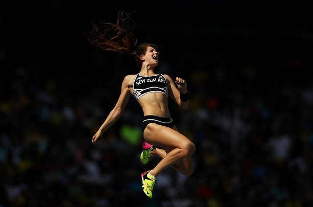 Eliza Mccartney of New Zealand competed in the Women's Pole Vault qualification on Day 11 of the Rio 2016 Olympic Games at the Olympic Stadium on August 16, 2016 in Rio de Janeiro, Brazil. (Photo by Cameron Spencer/Getty Images)