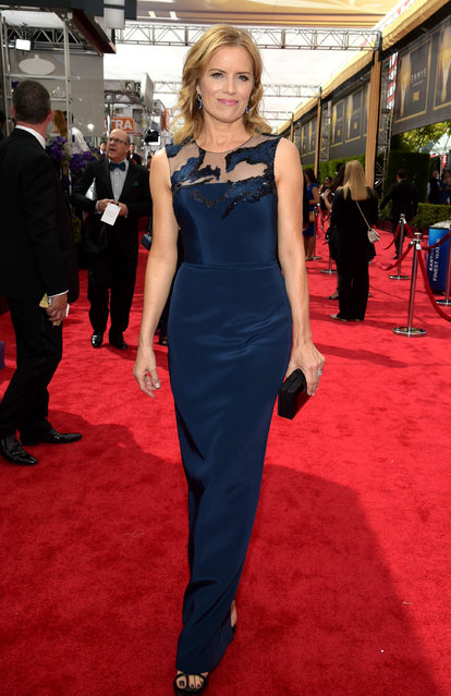 Kim Dickens arrives at the 67th Primetime Emmy Awards on Sunday, September 20, 2015, at the Microsoft Theater in Los Angeles. (Photo by Charles Sykes/Invision for the Television Academy/AP Images)
