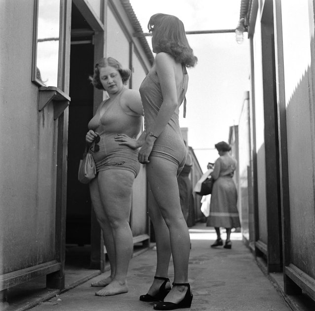 Dorothy Bradley (left), photographed for LIFE magazine article on obesity, 1949. (Photo by Martha Holmes/Time & Life Pictures)