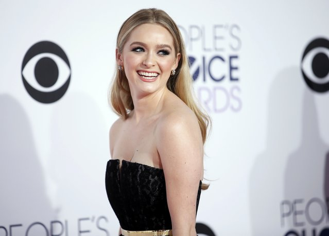 "Actress Greer Grammer from MTV's ""Awkward"" arrives at the 2015 People's Choice Awards in Los Angeles, California January 7, 2015. (Photo by Danny Moloshok/Reuters)"