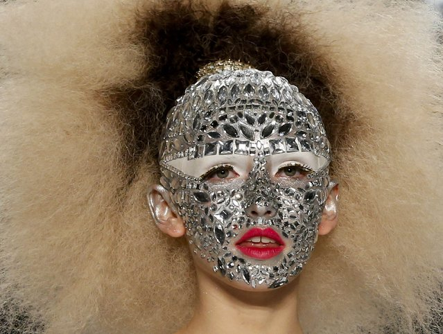 A model presents makeup creations during dress reharsal by Maybelline New York at the Berlin Fashion Week Autumn/Winter 2015 in Berlin January 19, 2015. (Photo by Fabrizio Bensch/Reuters)