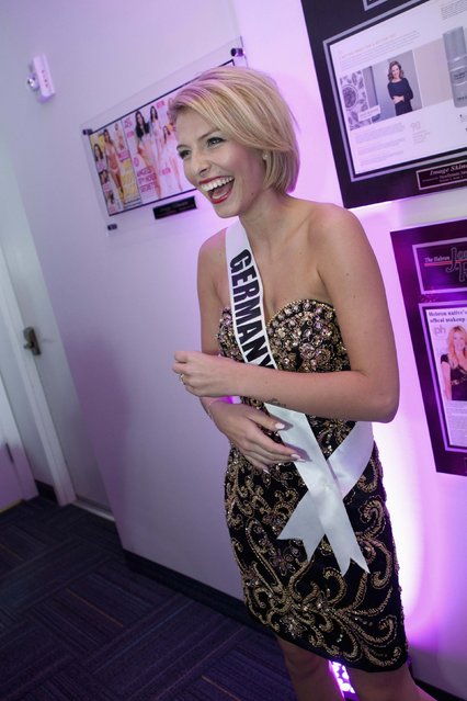 Miss Germany 2014 Josefin Donat waits to be interviewed for the 63rd Annual Miss Universe Pageant in Miami, Florida in this January 17, 2015, handout photo. (Photo by Reuters/Miss Universe Organization)