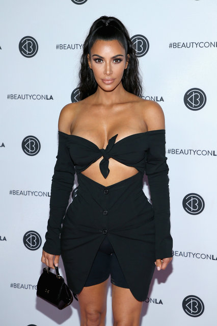 Kim Kardashian West attends the Beautycon Festival LA 2018 at the Los Angeles Convention Center on July 15, 2018 in Los Angeles, California. (Photo by Phillip Faraone/WireImage)