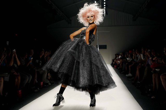 The Betsey Johnson Spring 2014 collection is modeled during Fashion Week in New York, on September 11, 2013. (Photo by John Minchillo/Associated Press)