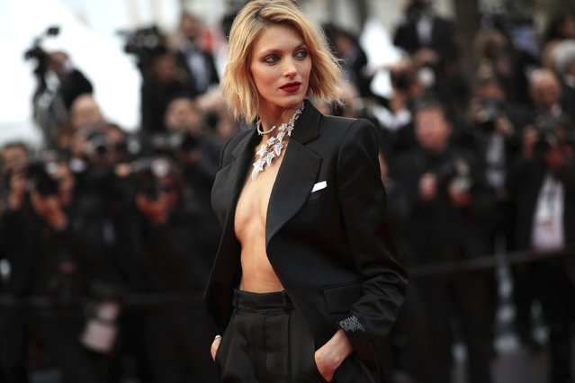 """In this Friday, May 17, 2019 file photo, model Anja Rubik poses for photographers at the 72nd international film festival, Cannes, southern France. A Nobel laureate, a Netflix star and a fashion model are among the board members who helped launch an initiative Tuesday, June 1, 2021 to raise money for LGBT rights groups in Poland, where gay men, lesbians, and bisexual and transgender people face a backlash from the country's conservative government and Catholic Church. """"We can't count on aid from within the country"""", said model Anja Rubik, who is one of the board members. (Photo by Petros Giannakouris/AP Photo/File)"""