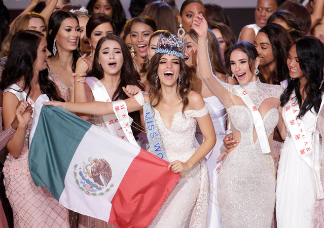 Miss Mexico Vanessa Ponce de Leon, 26, celebrates after winning the Miss World 2018 title in Sanya, Hainan island, China December 8, 2018. (Photo by Jason Lee/Reuters)