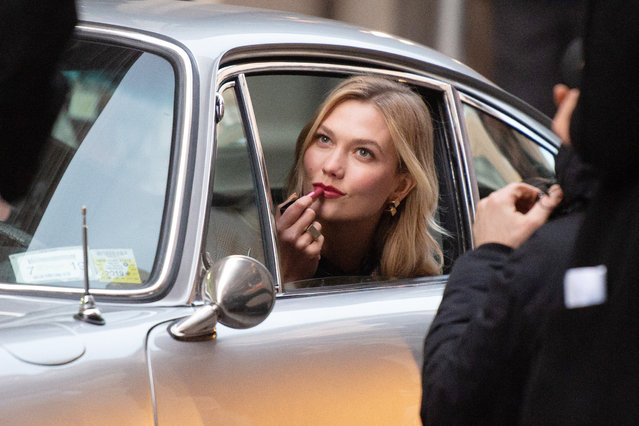 Karlie Kloss during a photoshoot in New York, United States of America on December 12, 2018. (Photo by Splash News and Pictures)