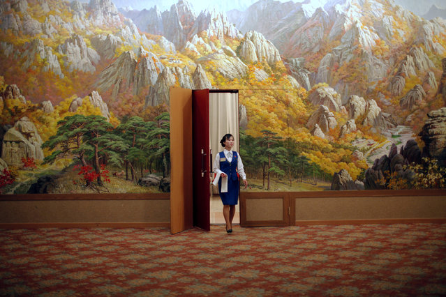 An employee enters a room at a hotel in Mount Kumgang resort in Kumgang September 1, 2011. (Photo by Carlos Barria/Reuters)