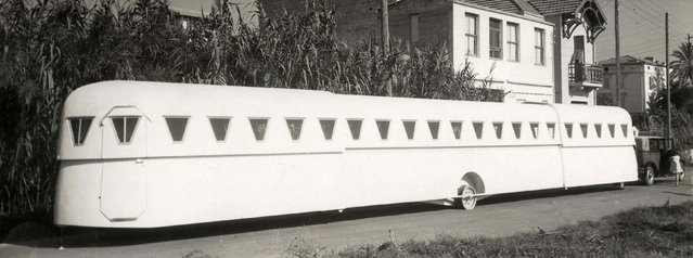 Extendable caravan built by a French engineer. Date: 1934. (Photo by Mary Evans Picture Library/Caters News)