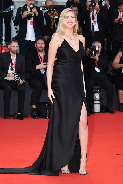 "Kate Upton walks the red carpet ahead of the ""Marriage Story"" screening during during the 76th Venice Film Festival at Sala Grande on August 29, 2019 in Venice, Italy. (Photo by Dominique Charriau/WireImage)"