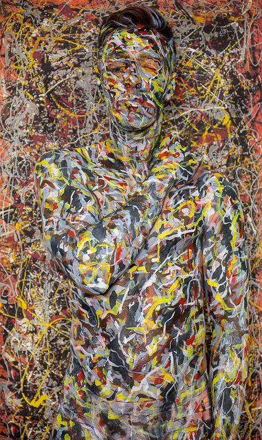 Titled 40,000,000 after price paid for No. 5, 1948 Jackson Pollock. (Photo by Trina Merry/Caters News)
