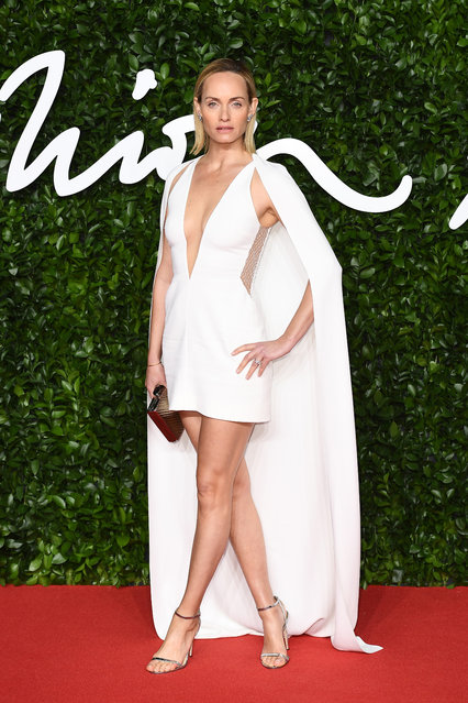 Amber Valletta arrives at The Fashion Awards 2019 held at Royal Albert Hall on December 02, 2019 in London, England. (Photo by Jeff Spicer/BFC/Getty Images)