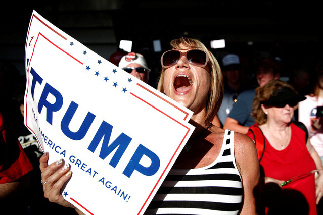 Supporters cheer for U.S. Republican presidential candidate Donald Trump at a campaign rally in Sacramento, California, U.S. June 1, 2016. (Photo by Lucy Nicholson/Reuters)