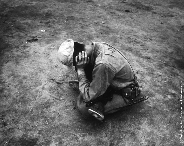 A weary and dispirited survivor of a lost battalion during the Korean War
