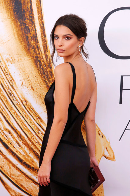 Actress and model Emily Ratajkowski arrives for the 2016 CFDA Fashion Awards in Manhattan, New York, U.S., June 6, 2016. (Photo by Andrew Kelly/Reuters)