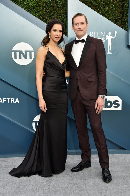 (L-R) Shireen Jiwan and James Tupper attend the 26th Annual Screen ActorsGuild Awards at The Shrine Auditorium on January 19, 2020 in Los Angeles, California. (Photo by Gregg DeGuire/Getty Images for Turner)