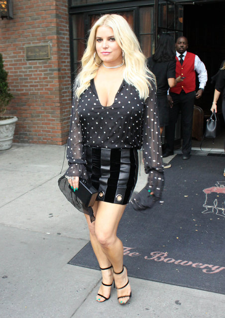 Singer Jessica Simpson is seen on August 9, 2017 in New York City. (Photo by VMAL/Star Max/GC Images)