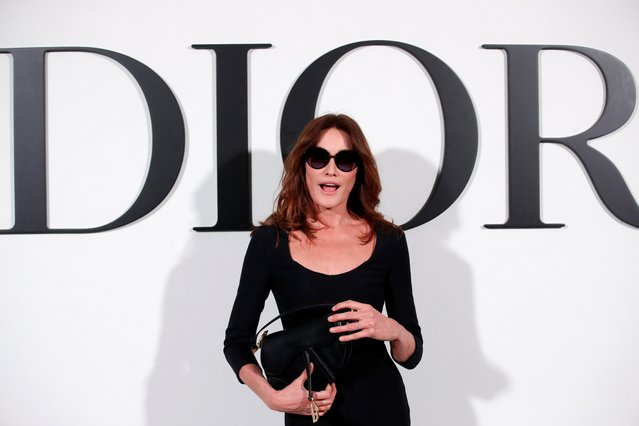 Carla Bruni-Sarkozy poses during a photocall before Dior Fall/Winter 2020/21 women's ready-to-wear collection show during Paris Fashion Week in Paris, France, February 25, 2020. (Photo by Gonzalo Fuentes/Reuters)