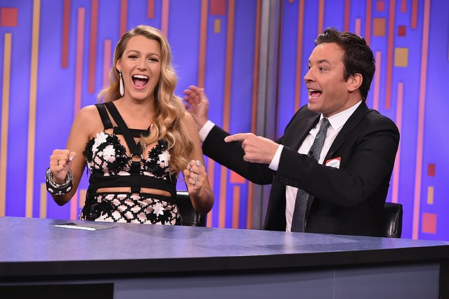 "Blake Lively Visits ""The Tonight Show Starring Jimmy Fallon"" at Rockefeller Center on July 15, 2016 in New York City. (Photo by Theo Wargo/Getty Images for NBC)"