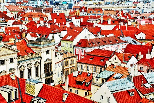 Rachel Nipp, 20, of Roswell, Ga., took this shot from an astronomy tower in Prague. She cropped out the sky to focus on the signature red roofs. (Photo by Rachel Nipp)