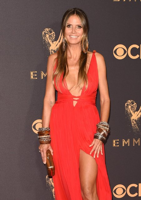 Heidi Klum attends the 69th Annual Primetime Emmy Awards at Microsoft Theater on September 17, 2017 in Los Angeles, California. (Photo by J. Merritt/Getty Images)