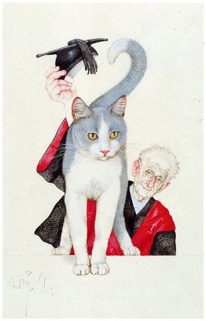 Pembrokes Katze. Artwork by Michael Mathias Prechtl