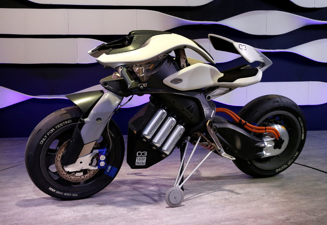 Yamaha displays MOTOROiD during media preview of the 45th Tokyo Motor Show in Tokyo, Japan on October 25, 2017. (Photo by Toru Hanai/Reuters)