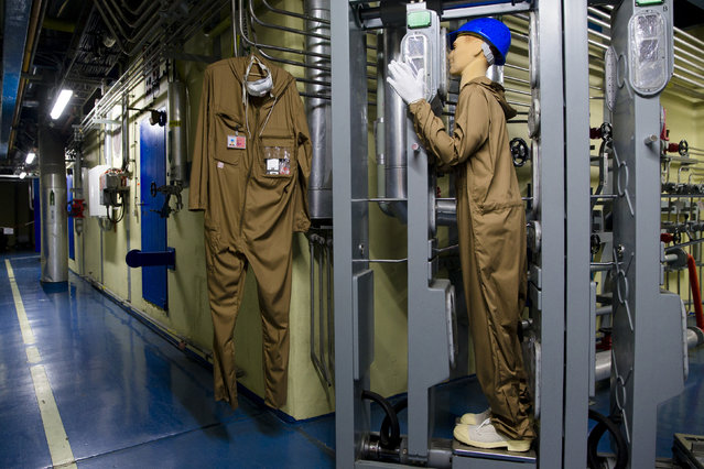 A full-body contamination monitor is seen inside the decommissioned Unit Six of the Greifswald nuclear power station outside Lubmin August 5, 2014. (Photo by Thomas Peter/Reuters)