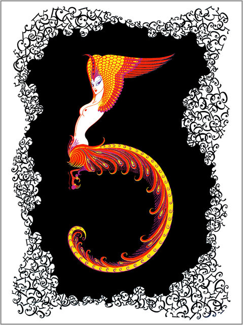 Romain de Tirtoff (Erte) – The Number Five