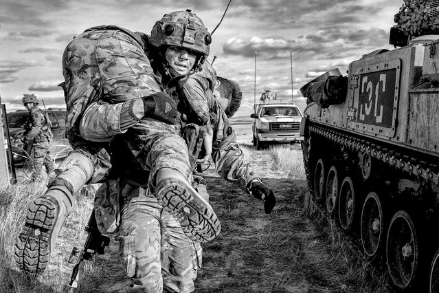12th Mechanized Brigade train on the plains of Canada at the British Army Training Support Unit Suffield by Sgt Paul Morrison; Army Photographic Competition, Britain, October 8, 2014. (Photo by MoD/Geoff Robinson Photography/REX Features)