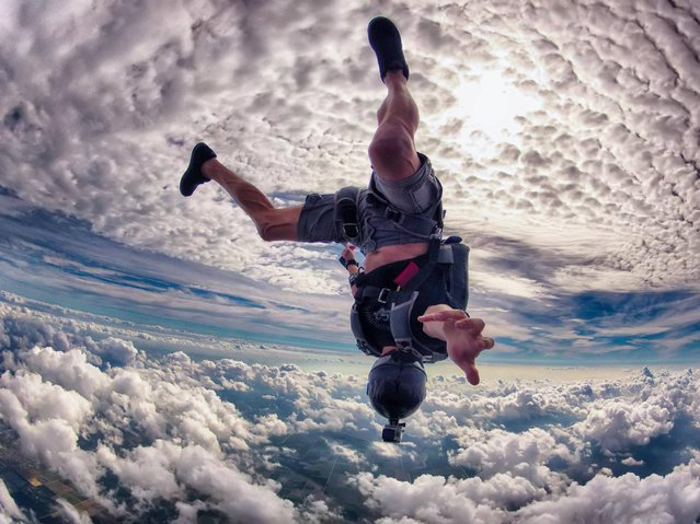 """Skydiving fun in Miami by Ralph Turner. This is a shot I took yesterday at Skydive Miami during a fun jump with friend Dexter Marcelino"". (Photo by Ralph Turner)"