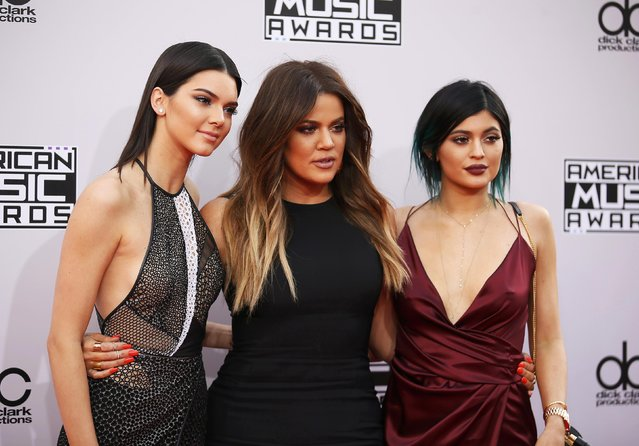 Kendall Jenner, Khloe Kardashian and Kylie Jenner arrive at the 42nd American Music Awards in Los Angeles, California November 23, 2014. (Photo by Danny Moloshok/Reuters)
