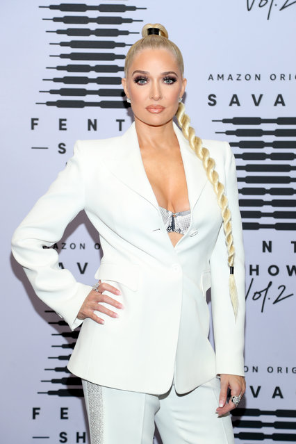 In this image released on October 1, Erika Jayne attends Rihanna's Savage X Fenty Show Vol. 2 presented by Amazon Prime Video at the Los Angeles Convention Center in Los Angeles, California; and broadcast on October 2, 2020. (Photo by Jerritt Clark/Getty Images for Savage X Fenty Show Vol. 2 Presented by Amazon Prime Video)