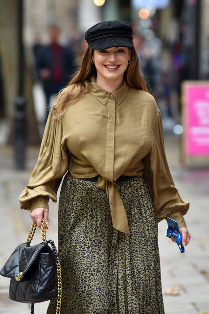 English model, actress, and media personality Kelly Brook, 40, sighting on October 06, 2020 in London, England. (Photo by HGL/GC Images)