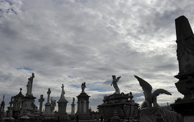 General view of the municipal cemetery of La Carriona in Aviles, northern Spain, October 29, 2015. (Photo by Eloy Alonso/Reuters)