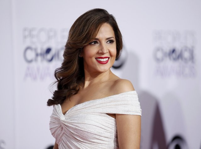 "Actress Maria Canals-Barrera from the ABC comedy series ""Cristela"" arrives at the 2015 People's Choice Awards in Los Angeles, California January 7, 2015. (Photo by Danny Moloshok/Reuters)"