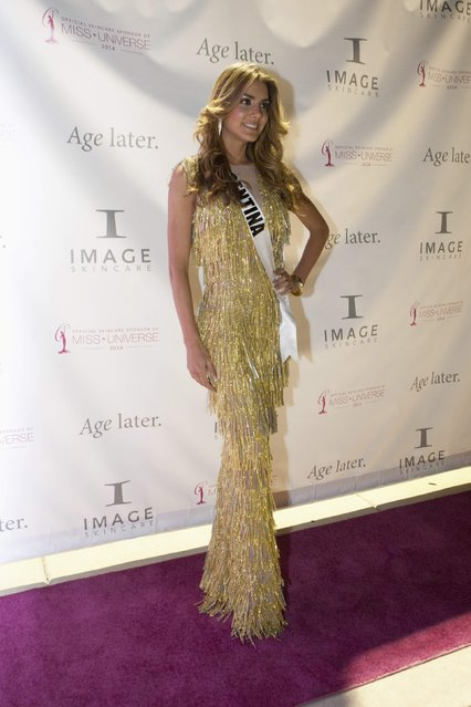 Miss Argentina 2014 Valentina Ferrer poses for the 63rd Annual Miss Universe Pageant in Miami, Florida in this January 17, 2015, handout photo. (Photo by Reuters/Miss Universe Organization)